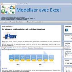 Modélisation EXCEL: Un tableau de bord budgétaire multi-sociétés en deux jours