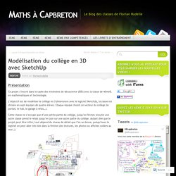 Modélisation du collège en 3D avec SketchUp