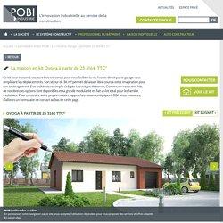 Plan 3D, modélisation et descriptif du kit de maison Ovoga à partir de 25 316€ TTC*