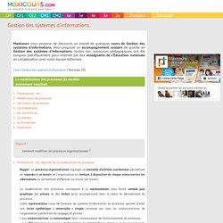 La modélisation des processus (le modèle événement-résultat), Soutien scolaire, Cours Gestion des systèmes d'informations, Maxicours