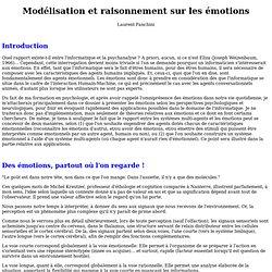 Modélisation et raisonnement sur les émotions