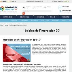 Modéliser pour l'impression 3D