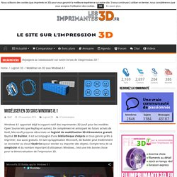 Modéliser et imprimer en 3D avec Windows 8.1