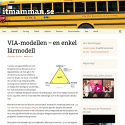 VIA-modellen – en enkel lärmodell