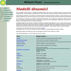Modelli dinamici