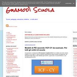Modelli di PEI secondo l'ICF-CY da scaricare. Per tutti gli ordini di scuola