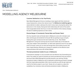 Modelling Agency Melbourne - Neon Model Management