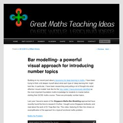 Bar modelling- a powerful visual approach for introducing number topics