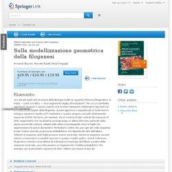 Sulla modellizzazione geometrica della filogenesi
