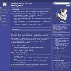 Home page - modello creazione webquest