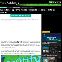 Modelo económico de Spotify