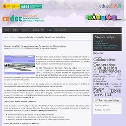 Nuevo modelo de organización de centro en Secundaria