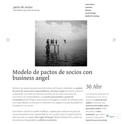 Modelo de pactos de socios con business angel
