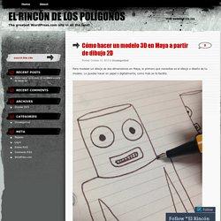 Cómo hacer un modelo 3D en Maya a partir de dibujo 2D