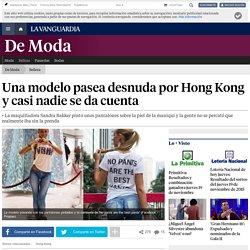 Una modelo pasea desnuda por Hong Kong y casi nadie se da cuenta