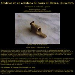 modelos de barro de aerofonos de ranas