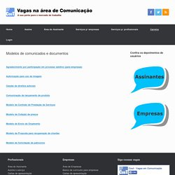 Modelos de comunicados e documentos
