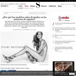 ¿Por qué las modelos salen desnudas en los anuncios de zapatos?