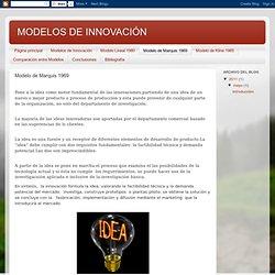 MODELOS DE INNOVACIÓN: Modelo de Marquis 1969