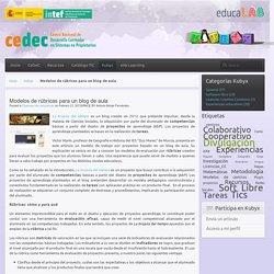 Modelos de rúbricas para un blog de aula