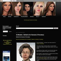 3d Models - Bellatrix for Genesis 2 Female(s)