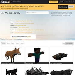 Free 3D Models, Download or Edit Online · Clara.io