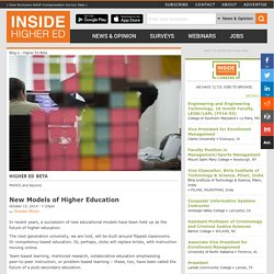 New Models of Higher Education