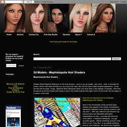 3d Models - Mephistopolis Noir Shaders