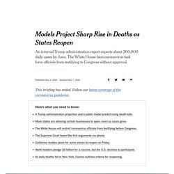 Models Project Sharp Rise in Deaths as States Reopen