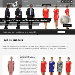 Free 3D models - ready-posed 3D people
