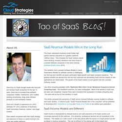 SaaS Revenue Models Trump Licensed Software Revenue ModelsCloud Strategies - Making SaaS Businesses Work