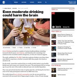 Even moderate drinking could harm the brain