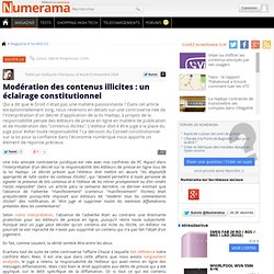 Modération des contenus illicites : un éclairage constitutionnel