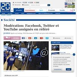 Modération: Facebook, Twitter et YouTube assignés en référé