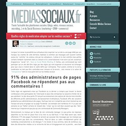 Quelles règles de modération adopter sur les médias sociaux ?