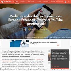 Modération des discours haineux en Europe : Facebook, Twitter et YouTube progressent - Tech