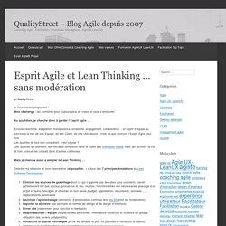 Esprit Agile et Lean Thinking ... sans modération