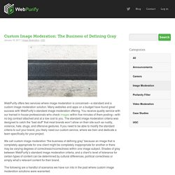 Custom Image Moderation: The Business of Defining Gray
