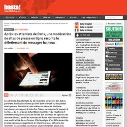 Après les attentats de Paris, une modératrice de sites de presse en ligne raconte le déferlement de messages haineux