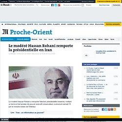 Le modéré Hassan Rohani remporte la présidentielle en Iran