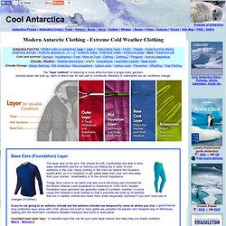 Modern Antarctic Clothing