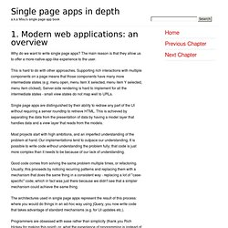 1. Modern web applications: a overview
