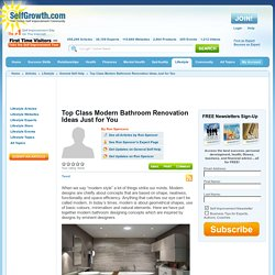 Top Class Modern Bathroom Renovation Ideas Just for You