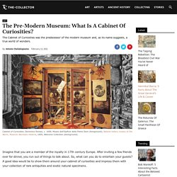 The Pre-Modern Museum: What Is A Cabinet Of Curiosities?