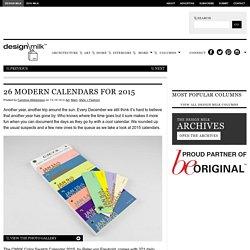 25 Modern Calendars for 2015