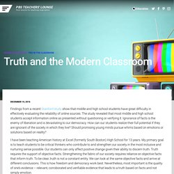 Truth and the Modern Classroom