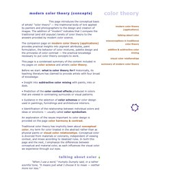 modern color theory (concepts)
