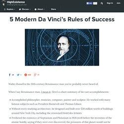 5 Modern Da Vinci's Rules of Success