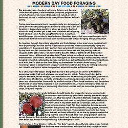 modern day food foraging