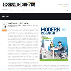 Modern In Denver – Modern Living Inside & Out » Winter Issue